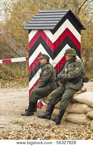 Kiev, Ukraine -nov 3. An Unidentified Members Of Red Star History Club Wear Historical Soviet Unifor