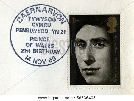 Postmarked Prince Of Wales Postal Stamp