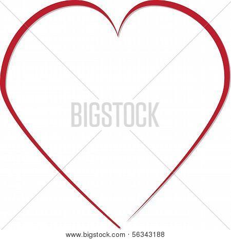 Red Heart Frame