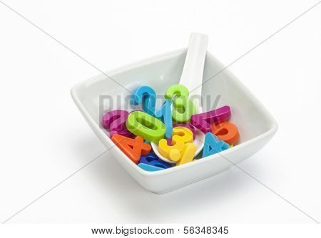 Numbers in a bowl- a concept