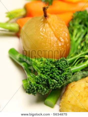 Broccolini And Vegetables