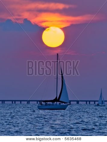 Dawn Sailboat