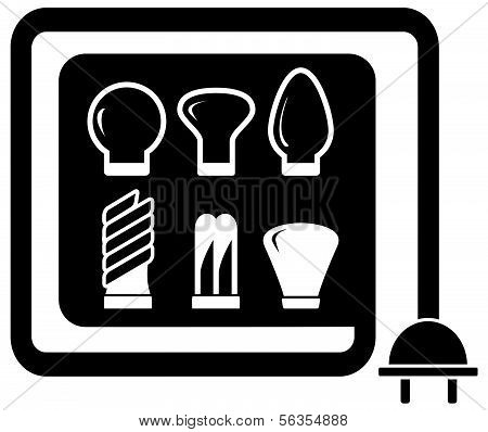 electrical set with bulb