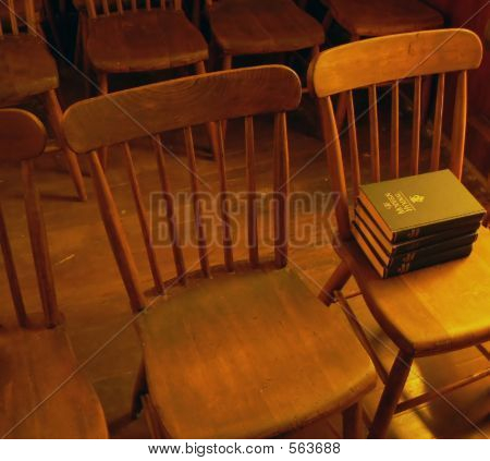 Old Chairs In Church