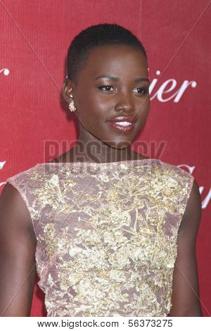 PALM SPRINGS - JAN 4:  Lupita Nyong'o at the Palm Springs Film Festival Gala at Palm Springs Convention Center on January 4, 2014 in Palm Springs, CA