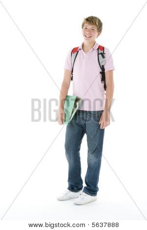 Portrait Of Teenage Schoolboy