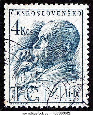 Postage Stamp Czechoslovakia 1947 Tomas Garrigue Masaryk