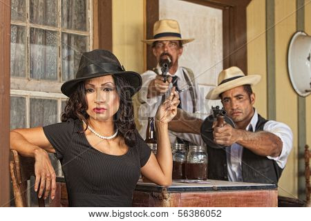 Bootleggers With Whiskey And Guns