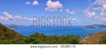Seascape from BVI Caribbean