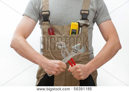 Manual Worker With Tools