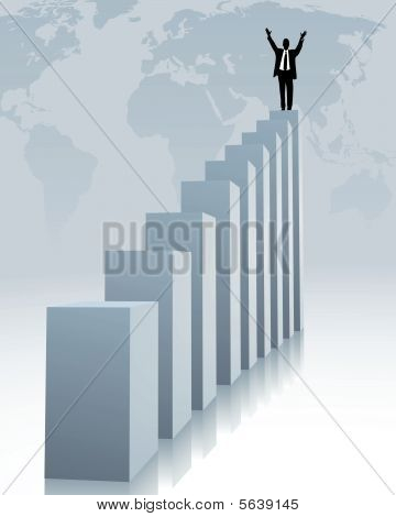upward trend and success