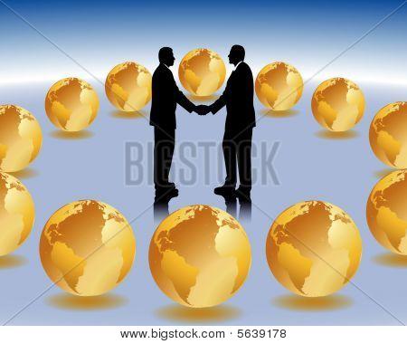 Internationale Business-meeting