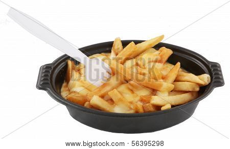 poutine and fork