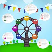 modern vector abstract Ferris Wheel infographic elements poster