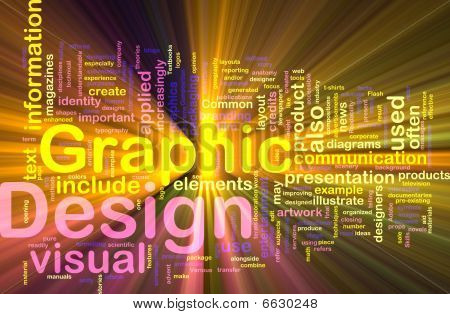 Graphic Design Background Concept Glowing