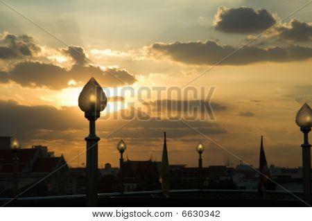 Lamp At Sunset