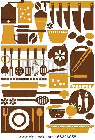 Kitchen Tools Seamless