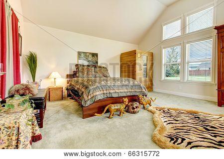 Beautiful Tropical Bedroom Interior.
