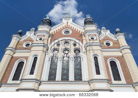 Synagogue from Satu Mare city. The buidling has historic value poster