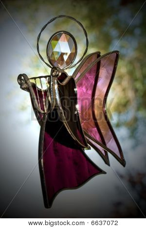 Stained Glass Flying Angel