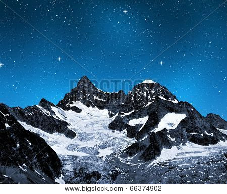 Ober Gabelhorn in night - Swiss Alps