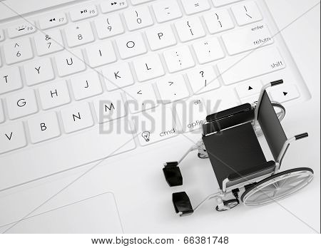 Wheelchair on the keyboard