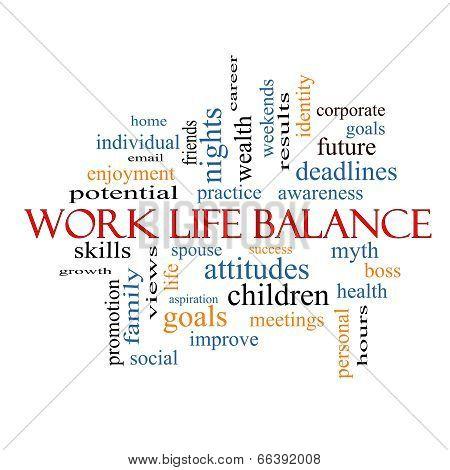 Work Life Balance Word Cloud Concept