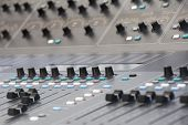 Large Music Mixing desk equipment for sound control buttons equipment for sound mixer control poster