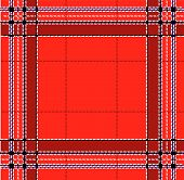 Classic red tartan fabric. Seamless square pattern poster