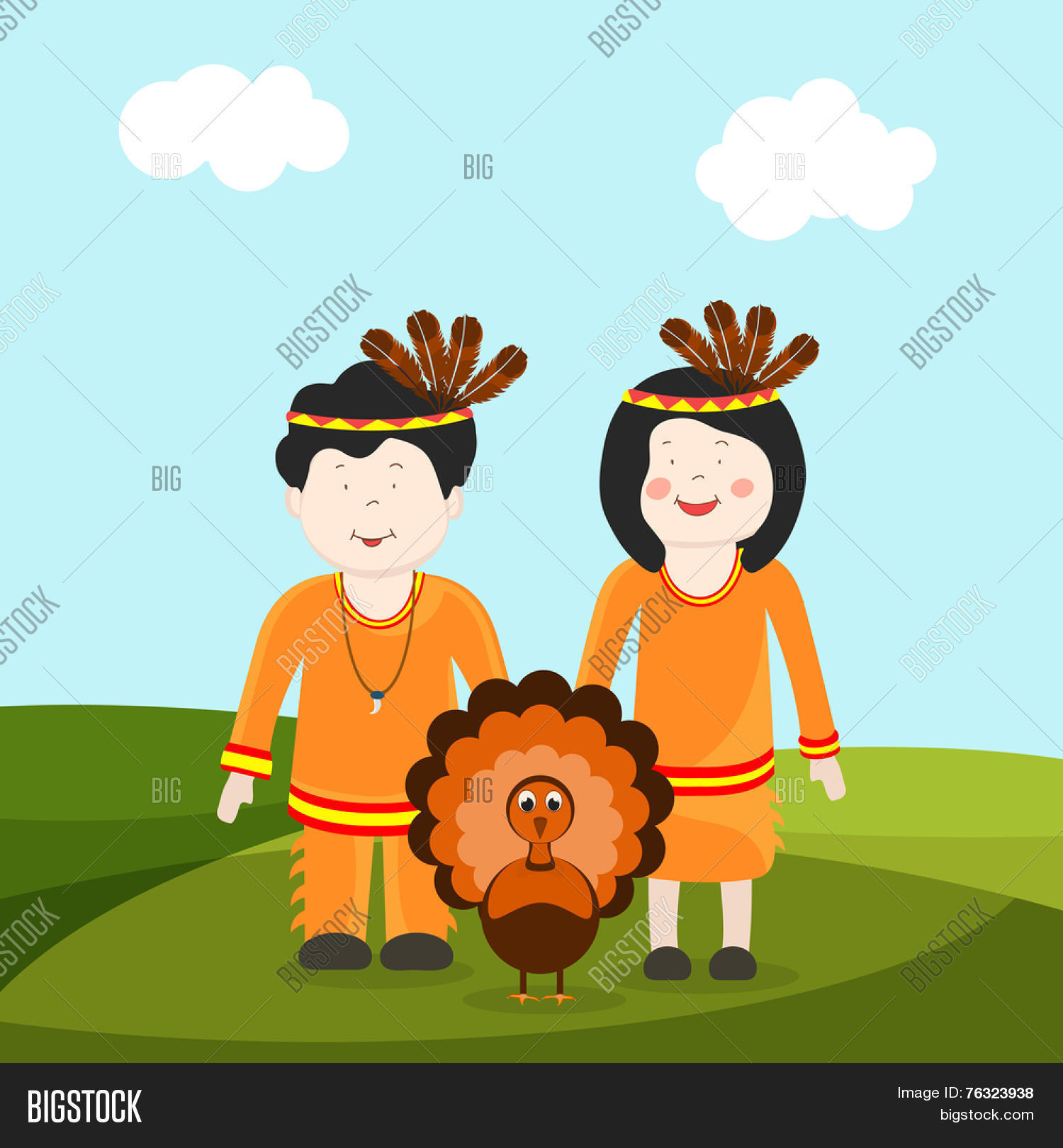 Cute Little Tribe Vector & Photo (Free Trial) | Bigstock