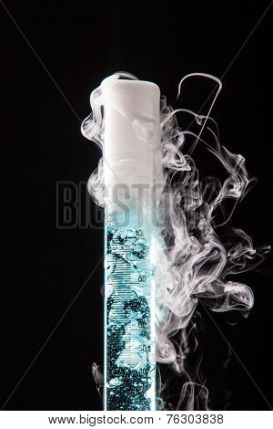 Chemical reaction in labolatory