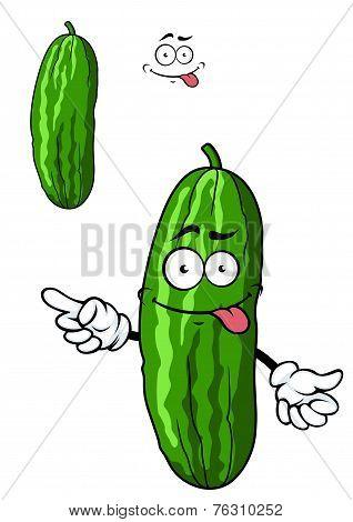 Green cartoon cucumber vegetable