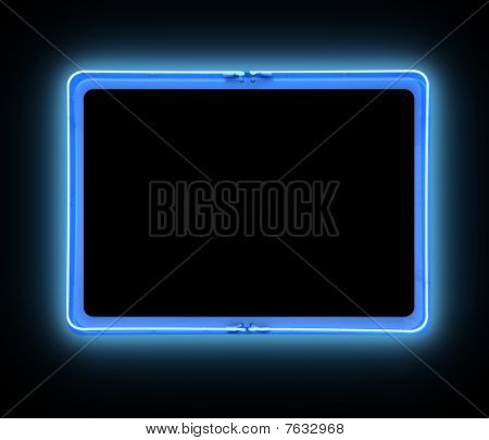 Bright Blue Border Neon Sign