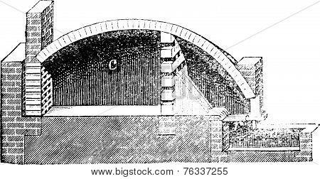 Common Pottery Kiln Vintage Engraving