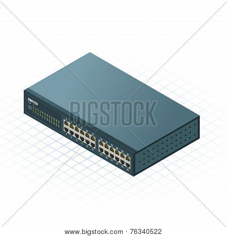 Isometric Switch Vector Illustration