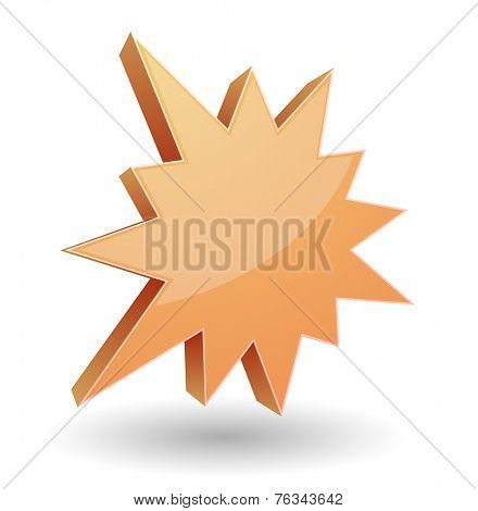 splash star burst 3d icon design
