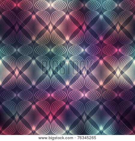 Geometric heatrs on blur background.