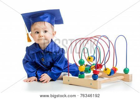Baby weared academical clothes