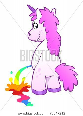 Unicorn Pissing Rainbow