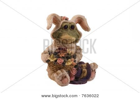 The frog has changed clothes in a skin of a hare. poster