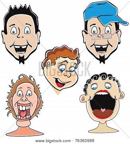 Laughing Guys, Illustration