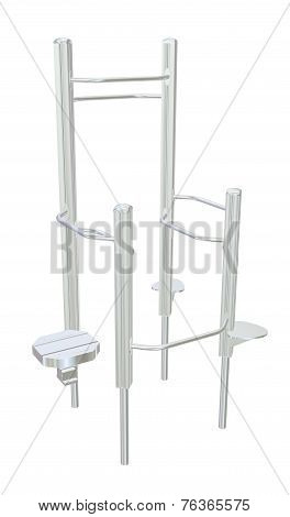 Pull-up Bars Or Shower Rack, 3D Illustration