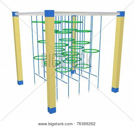 Climbing Bars And Rings, 3D Illustration