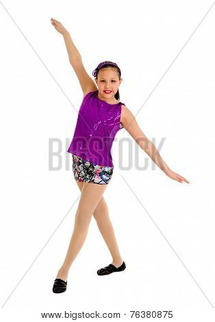 Preteen Jazz Dancer Girl