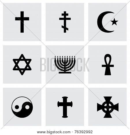 Vector religious symbols icon set