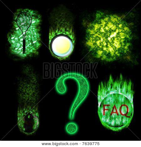 Green Burning Symbols