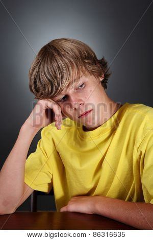 Depressed teenage boy poster
