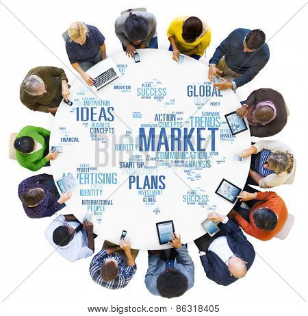 Market Business Global Business Marketing Commerce Concept