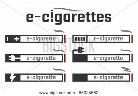 E-cigarettes Related Vector Illustration Concept