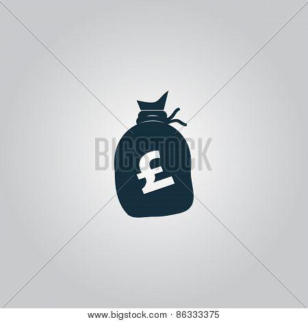 Money bag icon. Pound GBP